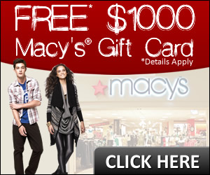 Free Samples Online Macy's Gift Card